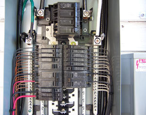 picture of the inside of an electrical panel