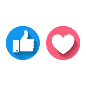 Facebook emojis for Like and Love