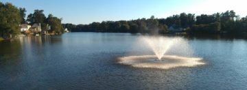 ash brook community lake and fountain