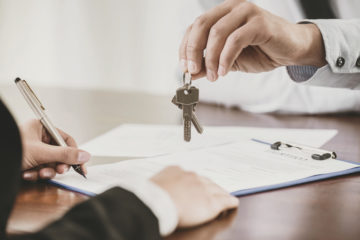 home closing: keys handed to new home owner