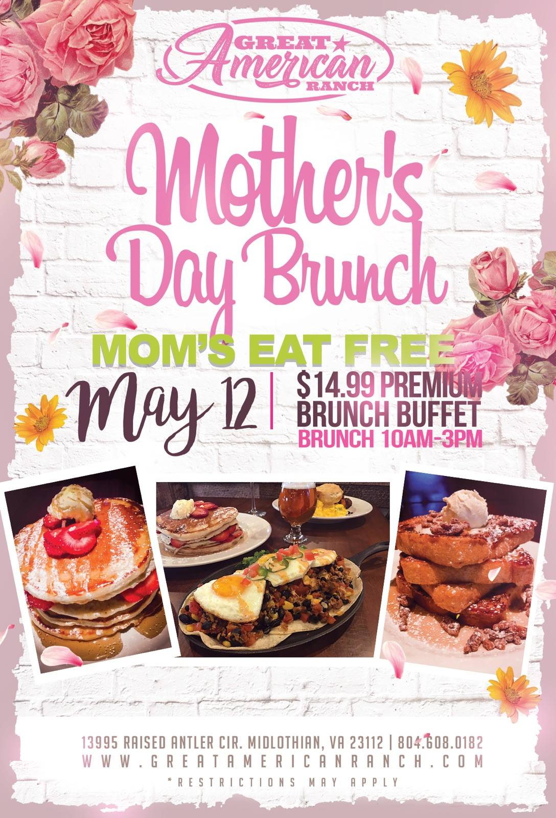 Mother's Day Brunch Public · Hosted by Great American Ranch