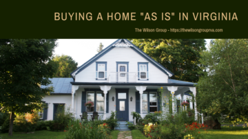 Buying a Home As Is in Virginia