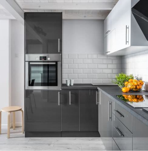 Modern kitchen with focus on wi-fi enabled oven