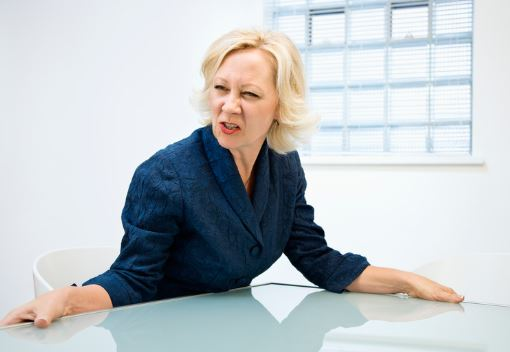 Angry Blonde Woman