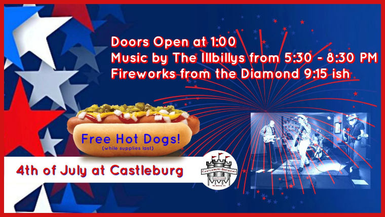 Castleburg Brewery and Taproom July 4th Event Banner