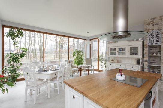 Staged Kitchen with Large Window