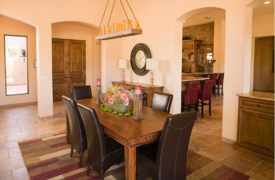 Dining Room Tips for Staging - Scaled Centerpiece