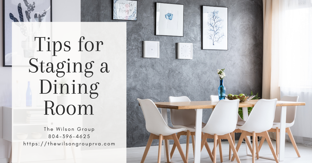 Tips for Staging a Dining Room