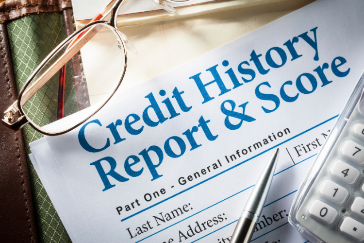 loan pre-approval concept - credit history